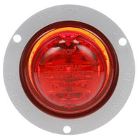 Truck-Lite 10279R 10 Series, High Profile, LED, Red Round, 8 Diode, M/C Light, PC, Gray Flange, 12V, Marker Clearance Light, Truck-Lite