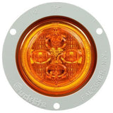 Truck-Lite 10289Y 10 Series, LED, Yellow Round, 8 Diode, Low Profile, M/C Light, PC, Gray Flush Mount, 12V, Marker Clearance Light, Truck-Lite