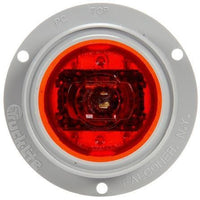 Truck-Lite 10379R 10 Series, High Profile, LED, Red Round, 8 Diode, M/C Light, PC, Gray Flange, 12V, Marker Clearance Light, Truck-Lite