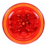 Truck-Lite 10385R 10 Series, LED, Red Round, 8 Diode, Low Profile, M/C Light, PC, 12V, Marker Clearance Light, Truck-Lite