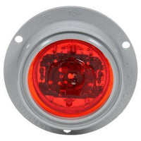 Truck-Lite 10389R 10 Series, LED, Red Round, 8 Diode, Low Profile, M/C Light, PC, Gray Flange, 12V, Marker Clearance Light, Truck-Lite