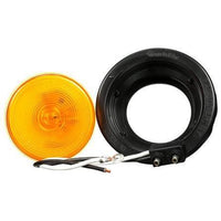 Truck-Lite 10519Y 10 Series, Incan., Yellow Round, 1 Bulb, M/C Light, PC, Black Grommet, 12V, Kit, Marker Clearance Light, Truck-Lite