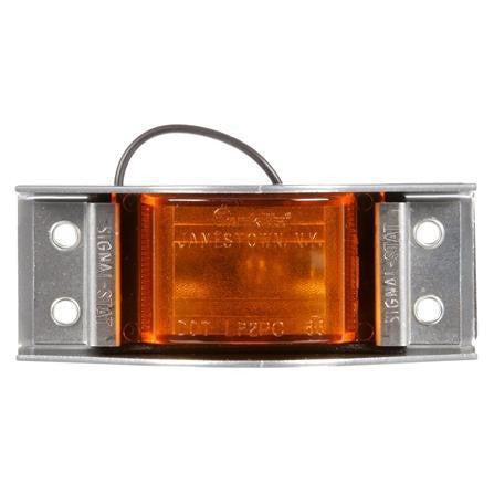 Truck-Lite 1101A Incan., Yellow Rectangular, 1 Bulb, The Guardian, M/C Light, PC, Silver 4 Screw, 12V