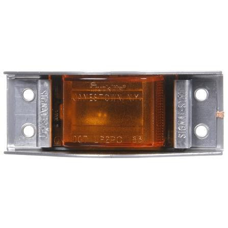 Truck-Lite 1105A Incan., Yellow Rectangular, 1 Bulb, The Guardian, M/C Light, PC, Silver 4 Screw, 12V