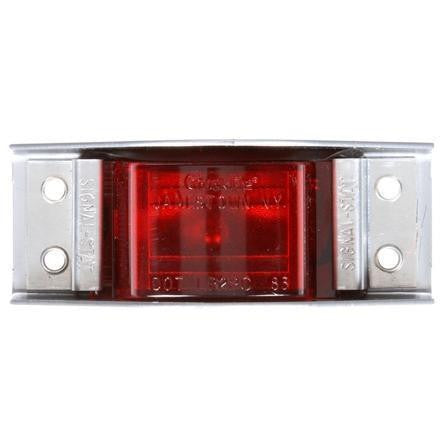 Truck-Lite 1105 Incan., Red Rectangular, 1 Bulb, The Guardian, M/C Light, PC, Silver 4 Screw, 12V