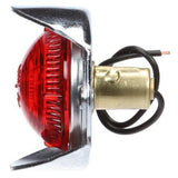 Truck-Lite 1116 Incan., Red Round, 1 Bulb, M/C Light, PC, Silver Flange, 12V, Marker Clearance Light, Truck-Lite