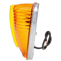 Truck-Lite 1150A Incan., Yellow Triangular, 1 Bulb, Bus, M/C Light, PC, 2 Screw, 12V