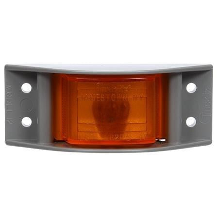 Truck-Lite 12003Y 12 Series, Incan., Yellow Rectangular, 1 Bulb, Branch Deflector, M/C Light, PC, Gray 4 Screw, 12V, Kit, Marker Clearance Light, Truck-Lite
