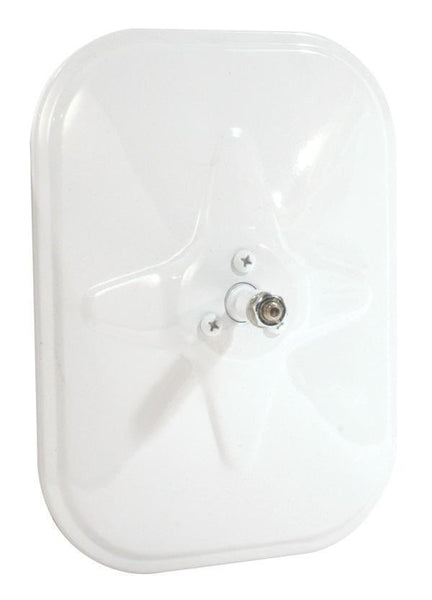 Grote 12071 Rolled-Rim Mirror- Ball Swivel, White - Levine Auto and Truck Lighting