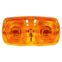 Truck-Lite 1211A Incan., Yellow Rectangular, 2 Bulb, Permastat, M/C Light, P2, Bracket, 12V