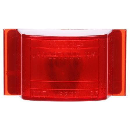 Truck-Lite 12201R 12 Series, Incan., Red Rectangular, 1 Bulb, M/C Light, PC, 24V, Marker Clearance Light, Truck-Lite