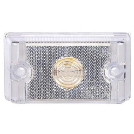 Truck-Lite 13001C 13 Series, Incan Clear Rectangular, 1 Bulb, M/C Light, ECE 24V, Kit, Marker Clearance Light, Truck-Lite