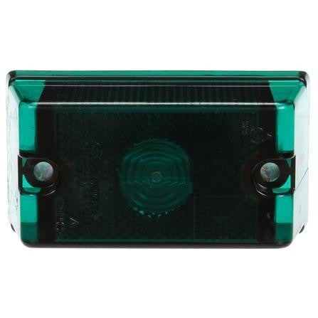 Truck-Lite 13001G 13 Series, Incan., Green Rectangular, 1 Bulb, European Approved, M/C Light, ECE, 2 Bolt & Nut, 24V, Kit, Marker Clearance Light, Truck-Lite