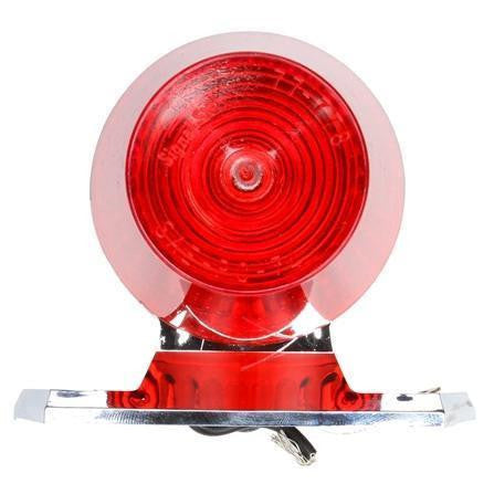 Truck-Lite 1319 Incan Red Round, 1 Bulb, M/C Light PC Chrome 2 Screw 12V
