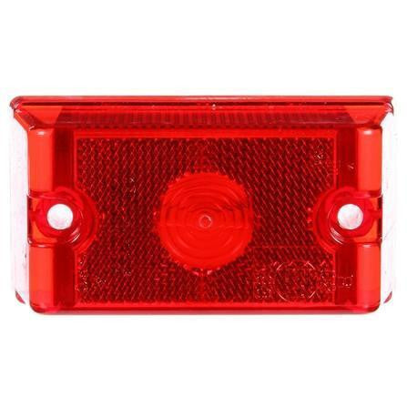Truck-Lite 13200R 13 Series Incan Red Rectangular 1 Bulb European Approved, M/C 24V