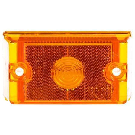 Truck-Lite 13200Y 13 Series Incan Yellow Rectangular 1 Bulb European Approved M/C Light ECE 24V