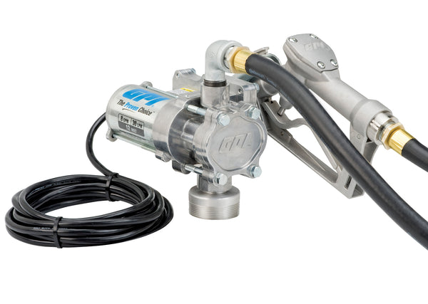 GPI Model EZ-8 Fuel Transfer Pump 12V DC Manual Nozzle 8 GPM