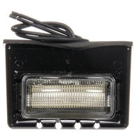 Truck-Lite 15043 15 Series, LED, 3 Diode, Rectangular, License Light, Black Bracket, 24V, Kit