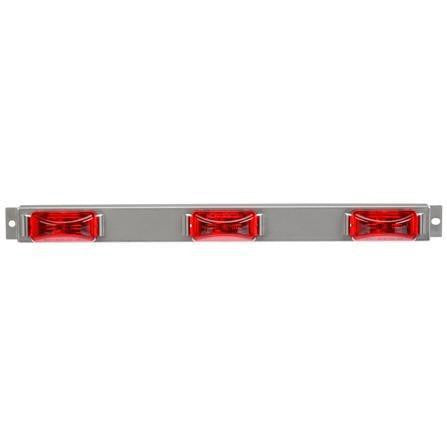 "Truck-Lite 15050R 15 Series, 6"" Centers, LED, Red, Rectangular, ID Bar, Silver, 12V, Kit, Identification Bar, Truck-Lite"