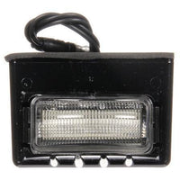 Truck-Lite 15058 15 Series, LED, 3 Diode, Rectangular, License Light, Black Bracket, 12V, Kit