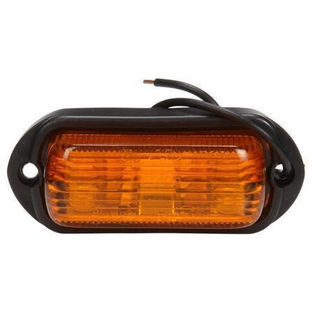 Truck-Lite 1506A Incan., Yellow Rectangular, 2 Bulb, M/C Light, P2, 2 Screw, 12V, Marker Clearance Light, Truck-Lite