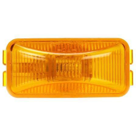 Truck-Lite 15200Y 15 Series Incan Yellow Rectangular 1 Bulb M/C Light PC2 12V