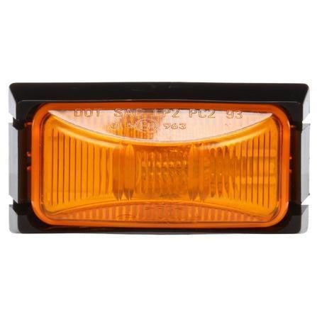 Truck-Lite 15507Y 15 Series Incan Yellow Rectangular 1 Bulb Adapter M/C Light PC2 12V Kit
