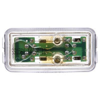 Truck-Lite 1561 LED Clear Red Rectangular 2 Diode M/C Light P2 12V