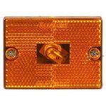 Truck-Lite 1570A Reflectorized Incan Yellow Rectangular 1 Bulb M/C Light P2 1 Stud 12V
