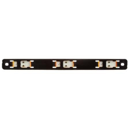 "Truck-Lite 15745Y 15 Series, 6"" Centers, Incan., Yellow, Rectangular, ID Bar, Black, 12V, Kit, Identification Bar, Truck-Lite"