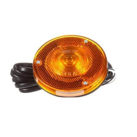 Truck-Lite 1590A Reflectorized, Incan., Yellow Round, 1 Bulb, M/C Light, P2, 2 Stud, 12V