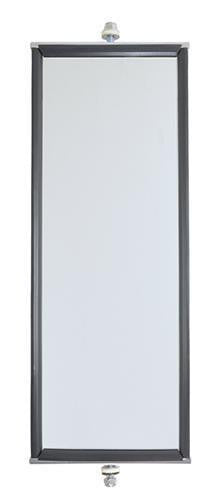 "Grote 16021 OEM Style West Coast Box Mirror- White 6"" x 16"", Stainless Steel"
