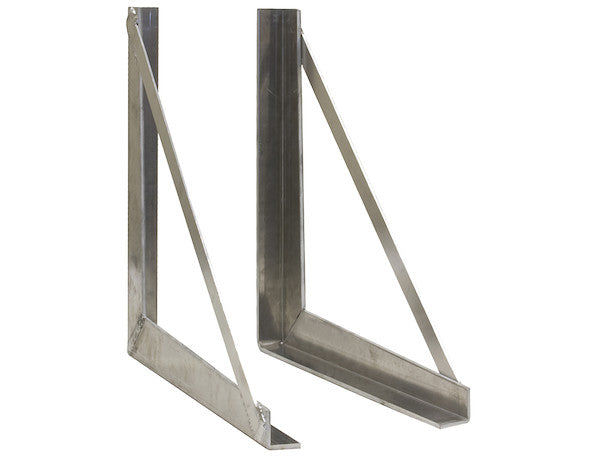 Buyers Products 1701040 Plain 24 x 24 Inch Welded Aluminum Mounting Brackets
