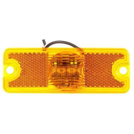 Truck-Lite 18011Y 18 Series Reflectorized LED Yellow Rectangular 3 Diode European M/C 12-24V Kit