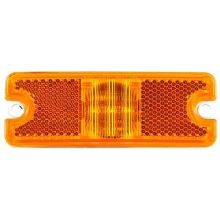 Truck-Lite 18060Y 18 Series, Diamond Shell, Reflectorized, LED, Yellow Rectangular, 3 Diode, M/C Light, ECE, 2 Screw, 12V, Kit