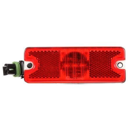 Truck-Lite 18070R 18 Series, Diamond Shell, Reflectorized, LED, Red Rectangular, 3 Diode, M/C Light, P2, 2 Screw, 12V, Kit