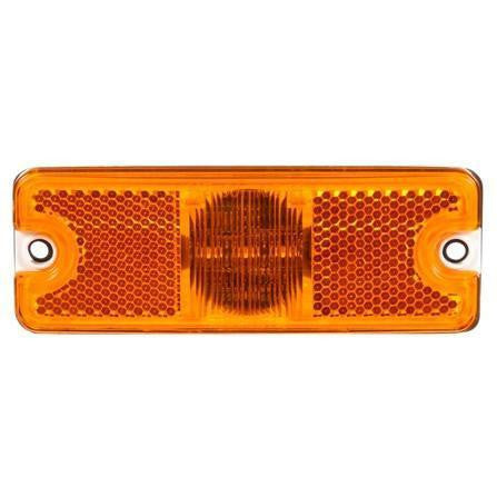 Truck-Lite 18070Y 18 Series, Diamond Shell, Reflectorized, LED, Yellow Rectangular, 3 Diode, M/C Light, P2, 2 Screw, 12V, Kit