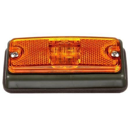 Truck-Lite 18085Y MILITARY LED, Yellow Lamp w/ Green Bracket, Military Marker Clearance Light, Truck-Lite