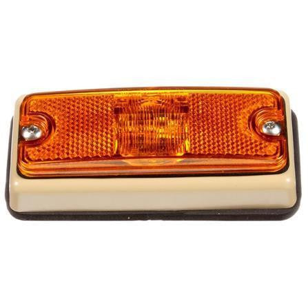 Truck-Lite 18088Y Military Tan 18 Series Yellow LED Rectangular 3 Diode M/C Light 12-24V Bracket Kit