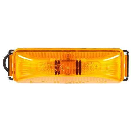 Truck-Lite 19009Y 19 Series, Incan., Yellow Rectangular, 2 Bulb, Base, M/C Light, PC, Chrome 2 Screw, 12V, Kit
