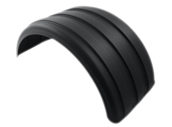 "Minimizer MIN1900B Black Lil Scrapper Single Axle Fender Set, Fits 19.5"" dual tires"