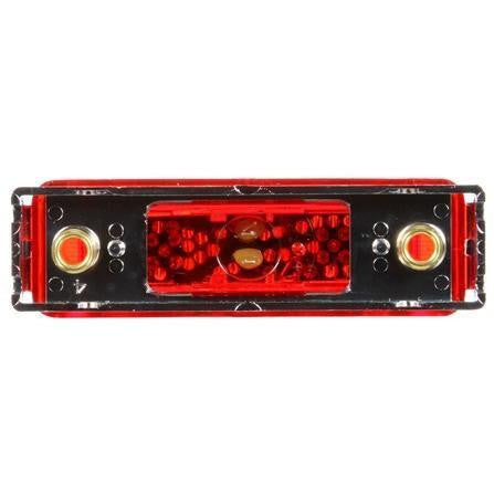 Truck-Lite 19031R 19 Series, LED, Red Rectangular, 2 Diode, Base, M/C Light, P2, Chrome Bracket, 12V, Kit