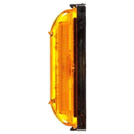 Truck-Lite 19031Y 19 Series, LED, Yellow Rectangular, 4 Diode, Base, M/C Light, PC, Chrome Bracket, 12V, Kit