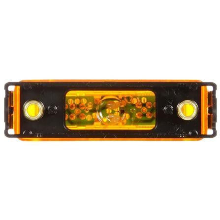 Truck-Lite 19032Y 19 Series, LED, Yellow Rectangular, 4 Diode, Base, M/C Light, PC, Black Bracket, 12V, Kit