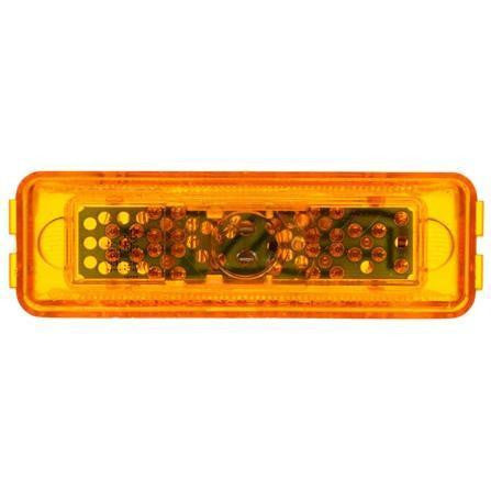 Truck-Lite 19375Y 19 Series, LED, Yellow Rectangular, 6 Diode, M/C Light, PC2, 12V