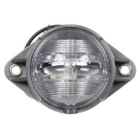 Truck-Lite 20302 Clear Incan 1 Bulb Round Dome Light w/Silver Bracket