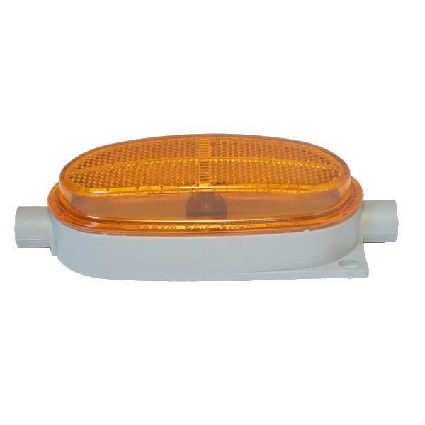 "Betts 210006 Amber Clearance & Side Marker Valox Body w/ Two 1/4"" N.T.P. End Entrances 12-volt"