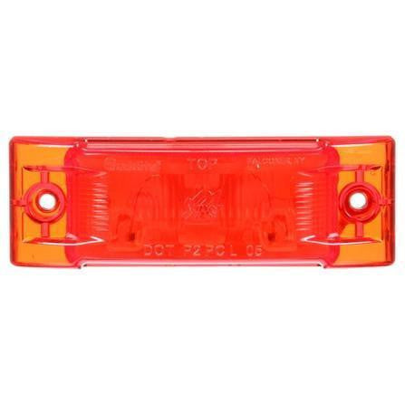 Truck-Lite 21001R Super 21, Incan., Red Rectangular, 1 Bulb, M/C Light, PC, 2 Screw, 12V, Kit