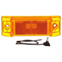 Truck-Lite 21002Y Super 21, Reflectorized, Incan., Yellow Rectangular, 1 Bulb, M/C Light, P2, 2 Screw, 12V, Kit