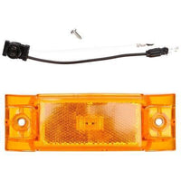 Truck-Lite 21056Y 21 Series, Reflectorized, LED, Yellow Rectangular, 3 Diode, M/C Light, PC, 2 Screw, 24V, Kit, Marker Clearance Light, Truck-Lite